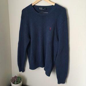 Blue polo Ralph Lauren crewneck sweater